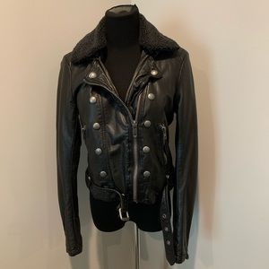 Free People vegan leather jacket Sz S